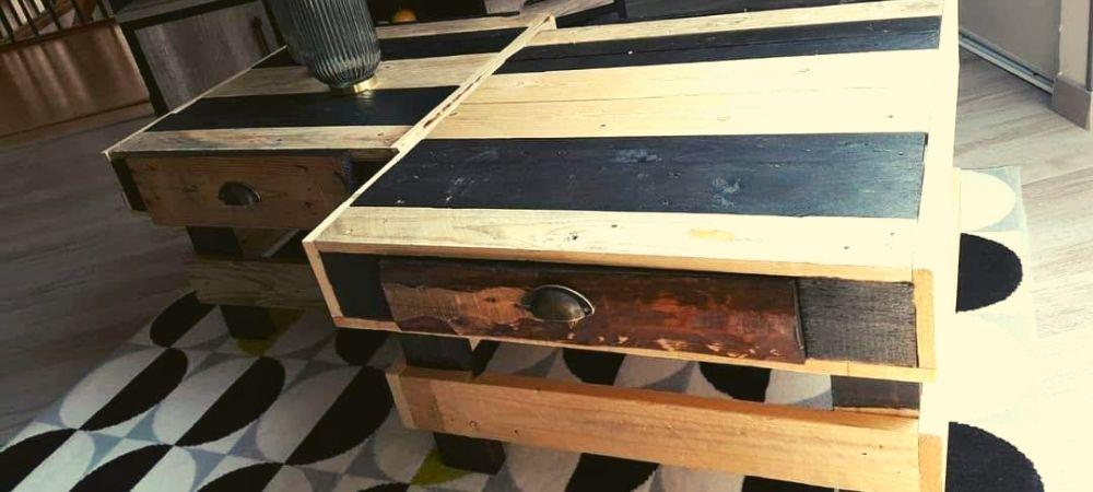 Réutilisez vos palettes pour en faire des tables jumelles - Brico Privé