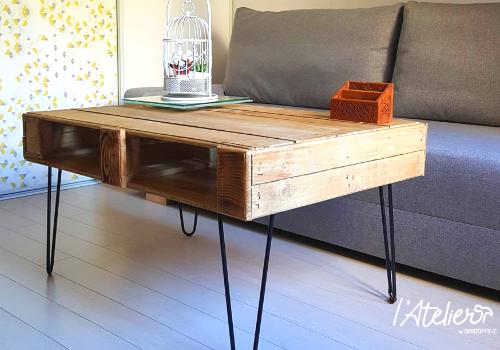 Fabriquer Une Table Basse En Palettes Avec Finition Bois