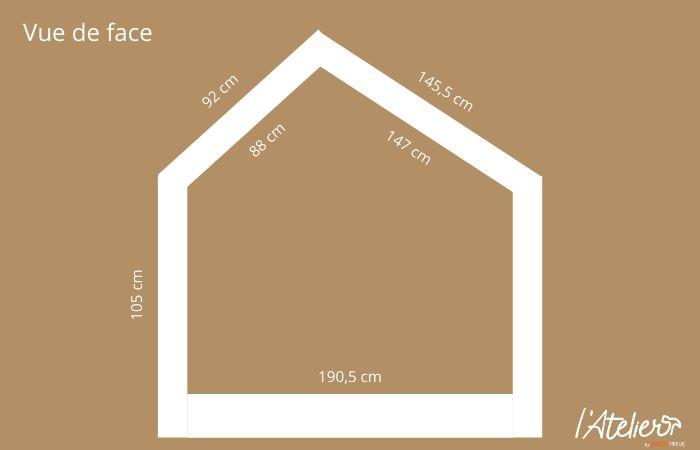 Plan fabriquer lit cabane enfant
